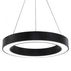 Led κρεμαστό φωτιστικό κυκλικό atman Leggenda siena μαύρο σώμα 48w 230v ww 3000k 3800lm Κωδικός: LEG-0153