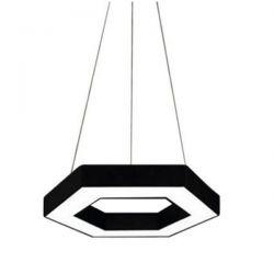 Led κρεμαστό φωτιστικό εξάγωνο atman Leggenda livorno μαύρο σώμα 48w 230v ww 3000k 3800lm Κωδικός: LEG-0203