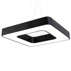 Led κρεμαστό φωτιστικό τετράγωνο atman Leggenda padova μαύρο σώμα 48w 230v nw 4000k 4150lm Κωδικός: LEG-0252