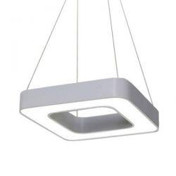 Led κρεμαστό φωτιστικό τετράγωνο atman Leggenda padova ασημί σώμα 48w 230v ww 3000k 4100lm Κωδικός: LEG-0263