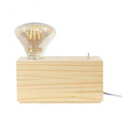 Vintage aca-decor επιτραπέζιο φωτιστικό ξύλινο με διακόπτη on/off με ντουί Ε27 Κώδ:TF17191TN