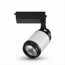 LED φωτιστικό ράγας μαύρο-λευκό COB 35W 4 καλωδίων θερμό λευκό φως 3000Κ 2850lm Κωδικός: 1338