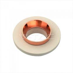 Χωνευτό φωτιστικό Spot GU10 γύψινο στρογγυλό με υπόλευκο σώμα & ροζ χάλκινο δαχτυλίδι Κωδικός: 3125