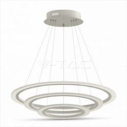 LED πολυέλαιος v-tac 3 δακτύλιοι 70W 3000K Θερμό λευκό Dimmable 3 βημάτων 4900lm Κωδικός: 3904