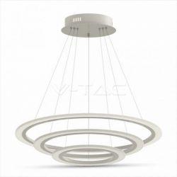 LED πολυέλαιος v-tac 3 δακτύλιοι 80W 3000K θερμό λευκό Dimmable 3 βημάτων 5600lm Κωδικός: 3906