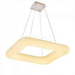 LED κρεμαστό φωτιστικό οροφής τετράγωνο v-tac 80W 230v 6600lm με εναλλαγή χρώματος και λευκό σώμα Dimmable Κωδικός: 3964
