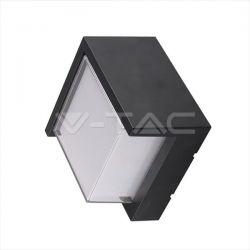 Φωτιστικό απλίκα led με σκίαστρο τετράγωνη μαύρο σώμα 12w/230v nw 4000k 1200lm Κωδικόs : 8540