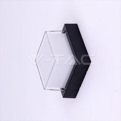 Φωτιστικό απλίκα led  τετράγωνη μαύρο σώμα 12w/230v ww 3000k 1200lm Κωδικόs : 8543
