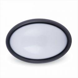 LED φωτιστικό εξωτερικού χώρου οβάλ 12W 4000K φυσικό λευκό φως & μαύρο σώμα IP54 Κωδικός: 4973