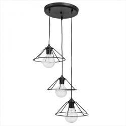 Τρίφωτο οροφής κωνικό σε μαύρο Χρώμα Heronia fun-350 pendel 3/L Κωδικός: 34-0076