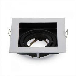 Χωνευτό φωτιστικό v-tac Spot για GU10 τετράγωνο σε χρώμα λευκό Κωδικός: 3597