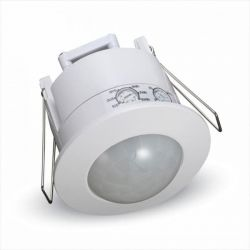 Ανιχνευτής κίνησης v-tac υπερύθρων χωνευτός λευκός max 300W γωνία θέασης 360° Κωδικός: 5090