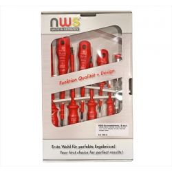 Κατσαβίδια σέτ 8 τεμ nws vde 1000v κόκκινη λαβή Κωδικός: 15-0