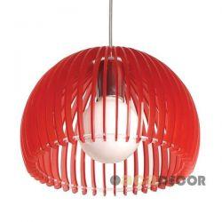 Φωτιστικό κρεμαστό μονόφωτο ακρυλικό Κόκκινο Φ28 για λάμπες Led E27