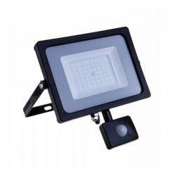 Προβολέας LED Samsung chip 30W/230v (ψυχρό λευκό 6400Κ) μαύρο σώμα με ανιχνευτή κίνησης Κωδ: 462