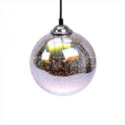 Μονόφωτο κρεμαστό φωτιστικό Γυαλί με 3D γυαλί σώμα Ø200 με ντουί ε27 Κωδικός: 40121
