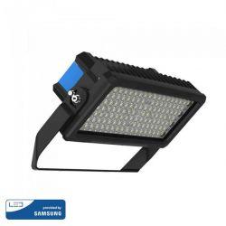 Προβολέας LED Samsung chip & Meanwell driver 250W ψυχρό λευκό 6000K Μαύρο σώμα Dimmable 60° Κωδ: 501