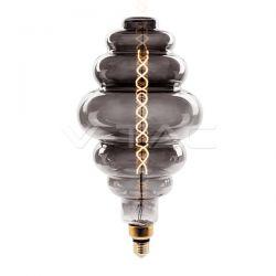 Λάμπα LED E27 Special Filament S200 8W Θερμό λευκό 2200K Smokey cover Dimmable Κωδικός: 7465