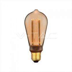 Λάμπα LED E27 Special Art Filament ST64 4W Amber Θερμό λευκό 1800K Κωδικός: 7474