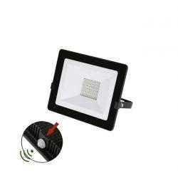 Προβολέας LED-SMD slim 30W 230V με φωτοκύτταρο 4000Κ φυσικό φως IP65 σε μαύρο χρώμα Κωδικός:   3-0303011