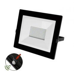 Προβολέας LED-SMD slim 100W 230V με φωτοκύτταρο 4000Κ φυσικό φως IP65 σε μαύρο χρώμα Κωδικός:   3-03010011
