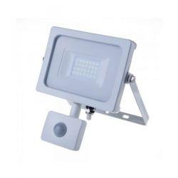 Προβολέας LED με Samsung chip λευκός 20W (φυσικό λευκό 4000Κ) με ανιχνευτή κίνησης Κωδικός: 449