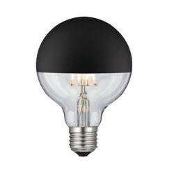 Λαμπτήρας LED diolamp black vintage-διάφανος G95 θερμό Λευκό Φώς (2700K) 6W E27 230V dimmable Kώδ: GLOBE956WWDIMBL