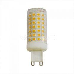 Λάμπα LED v-tac G9 SMD 7W/230v φυσικό λευκό 4000K Κωδικός: 2723