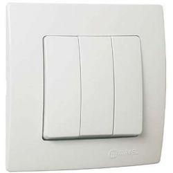 Διακόπτης τριπλός Lillium makel λευκός Κωδικός : 32001091