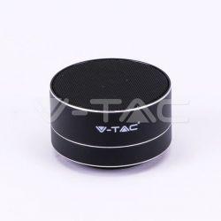 Mini ηχείο v-tac φορητό Bluetooth μαύρο 400mAh Κωδικός: 7712 Μπαταρία3.7V/400mAh