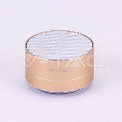 Mini ηχείο v-tac φορητό Bluetooth χρυσό 400mAh Κωδικός: 7714