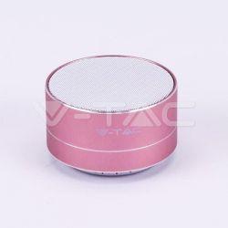 Mini ηχείο v-tac φορητό Bluetooth ρόζ-χαλκός 400mAh Κωδικός: 7715