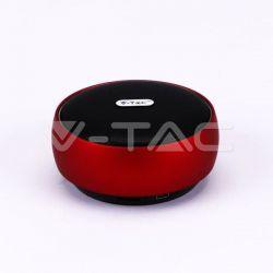 Ηχείο φορητό v-tac Bluetooth κόκκινο 800mAh Κωδικός: 7716