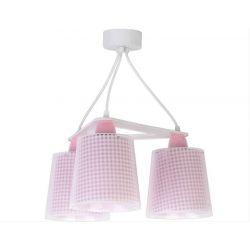 Vichy Pink κρεμαστό τρίφωτο οροφής  Κωδικός: 80224 S