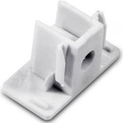 Τερματικό - τάπα ράγας 2 καλωδίων λευκό για φωτιστικά σπότ ράγας Κωδικός : 2WTEW
