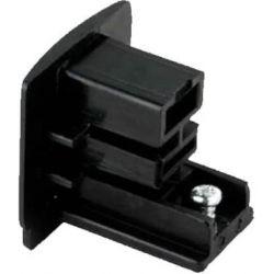 Τερματικό - τάπα ράγας 2 καλωδίων μαύρο για φωτιστικά σπότ ράγας Κωδικός : 2WTEB