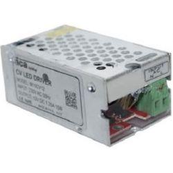 Τροφοδοτικό - led driver 15W 230V στα 12VDC για ταινίες & λάμπες LED μεταλλικό μη στεγανό IP20 sku: M15CV12