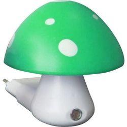 Φωτιστικό led νυκτός σε σχήμα μανιτάρι πράσινο-λευκό με αισθητήρα ημέρας-νύκτας Aca 846LED4SG