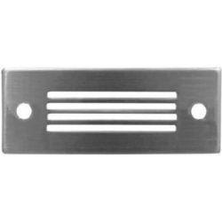 Led φωτιστικό διαδρόμου αλουμινίου ορθογώνιο με γρίλιες με 12 led 0.8 watt-230 v ip54 μπλέ Adeleq 3-96014/96012