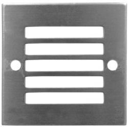Led Φωτιστικό δαπέδου αλουμινίου τετράγωνο με γρίλιες 0.6 watt-230 v ip54 με 9 led μπλέ Adeleq 3-96214/96212