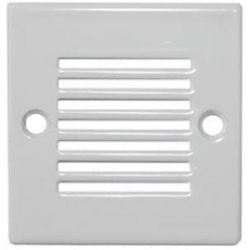 Led Φωτιστικό δαπέδου με λευκό πλαίσιο τετράγωνο στεγανό με γρίλιες με 9 Led 0,6 watt-230 v ip54 μπλέ Adeleq 3-96214/962120