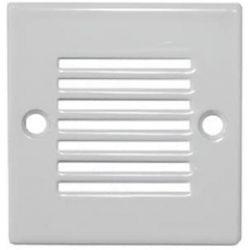 Φωτιστικό δαπέδου χωνευτό με γρίλιες τετράγωνο με λευκό πλαίσιο με 9 Led στεγανό Ψυχρό λευκό 0,6 watt-230 v Adeleq 3-96210/962120