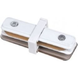 Σύνδεσμος ράγας ευθείας λευκός για LED σποτ ράγας εσωτερικού χώρου Κωδ: TRC-00600