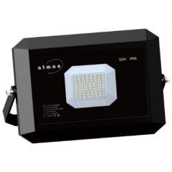 Προβολέας led ultra slim μαύρος 50w 230v ψυχρό λευκό 6000Κ 5500lm  Atman Κωδικός : FL-K-00040