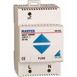 Ρυθμιστής master dimmer multi φωτισμού-κινητήρων ράγας λευκός 1000watt Κωδικός : DM-DGL