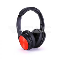 Bluetooth ασύρματα ακουστικά, σε κόκκινο χρώμα – 500mah με rotatable head Κωδικός: 7729