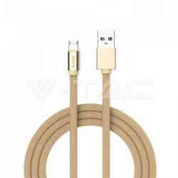 Καλώδιο Micro USB χρυσό 1m Ruby Series Κωδικός: 8495