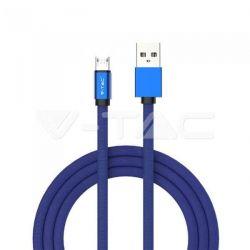 Καλώδιο Micro USB μπλέ 1m Ruby Series Κωδικός: 8496