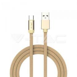 Καλώδιο USB Type C χρυσό 1m Ruby Series Κωδικός: 8499
