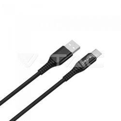 Καλώδιο USB Type C μαύρο 1m Gold Series Κωδικός: 8632